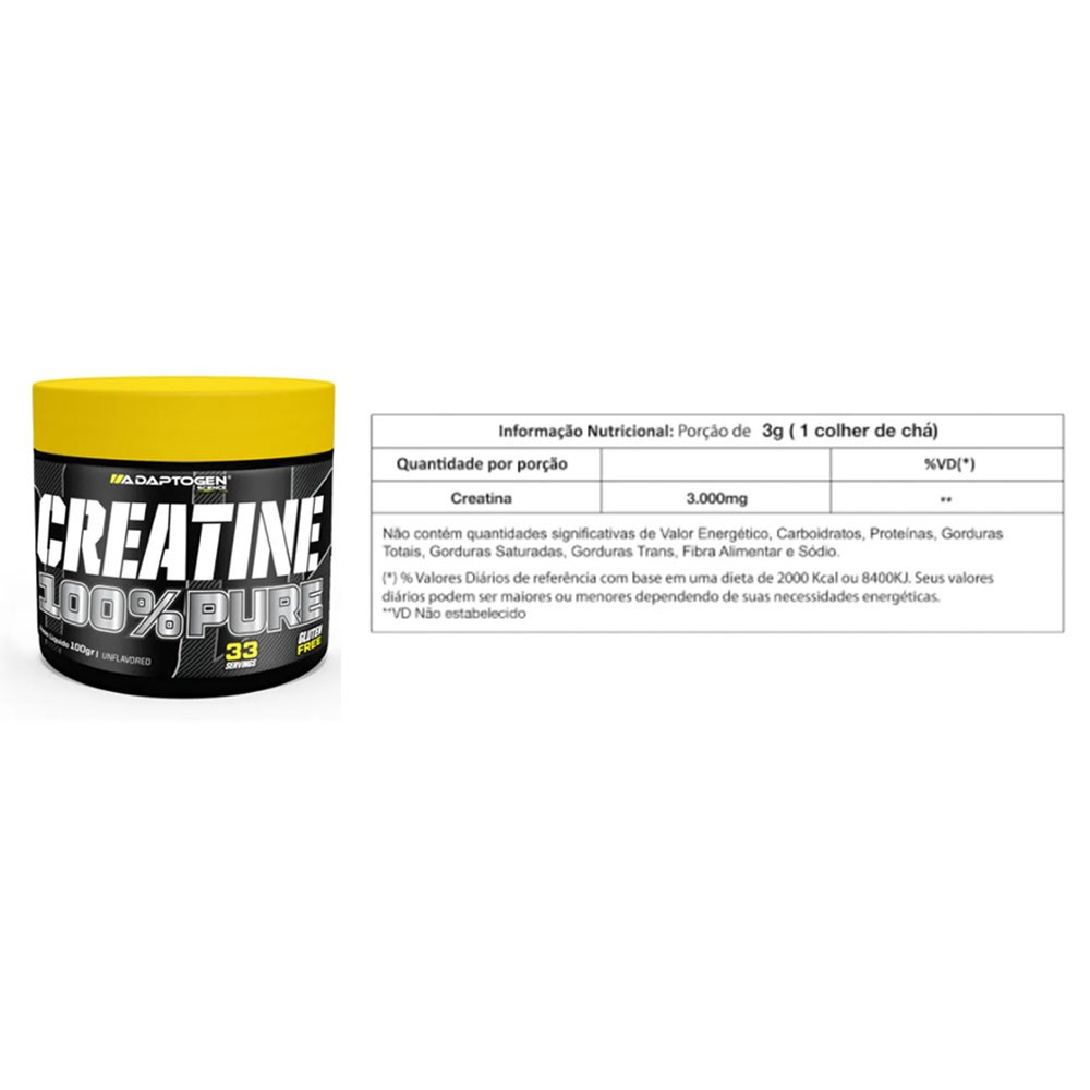 Protein Premium Morango 1,8Kg e Creatina 100g  - KFit Nutrition