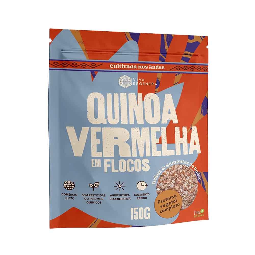 Quinoa Vermelha em Flocos 150g Proteina Vegetal  Viva Regenera   - KFit Nutrition