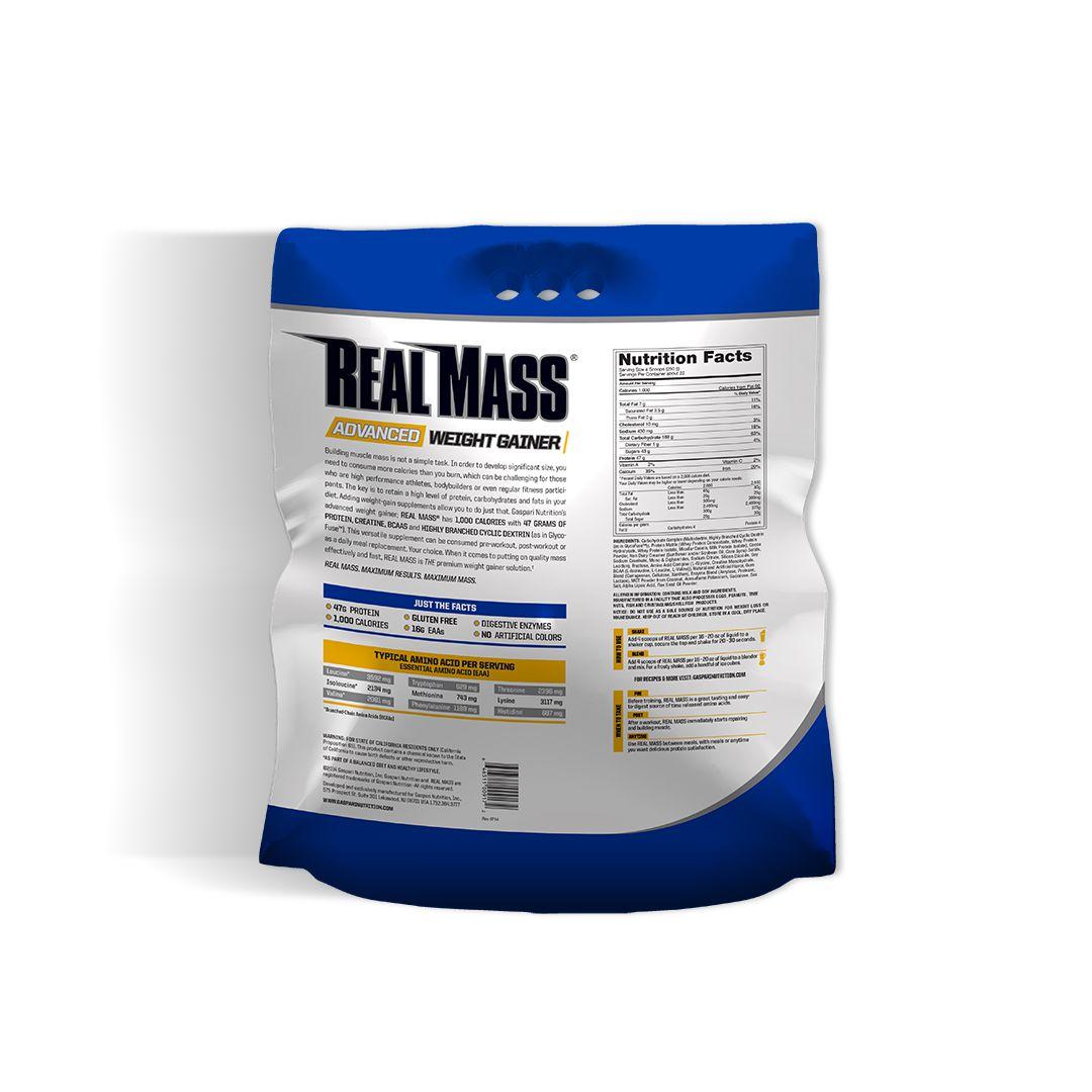 Real Mass Morango 5.454g - Gaspari Nutrition  - KFit Nutrition