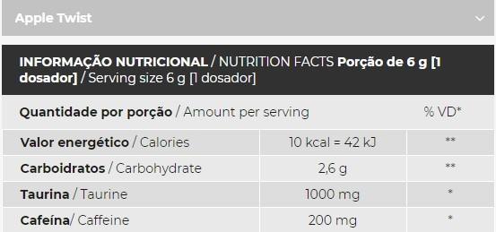 Redchaos Enegy Apple Twis 150g - Integral Medica  - KFit Nutrition
