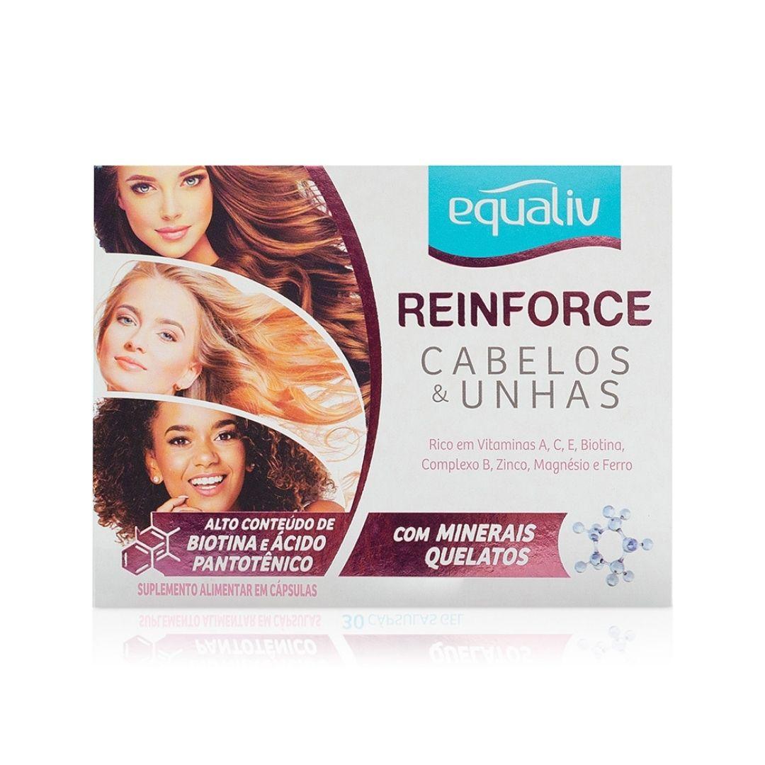 Reinforce Cabelos e Unhas 30 Cáps em Gel Equaliv  - KFit Nutrition