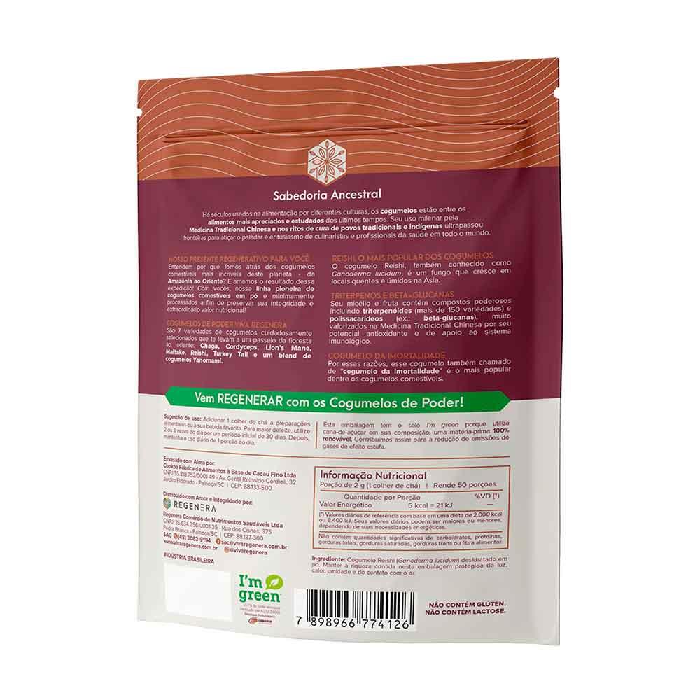 Reishi Ccogumelo Desidratado em Pó 100g  Viva Regenera  - KFit Nutrition