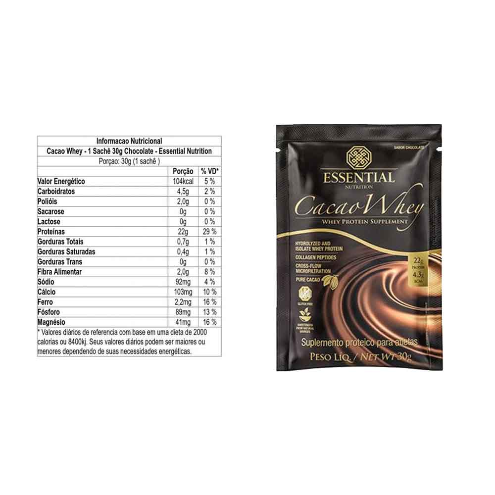 Sache Cacau Whey 30g - Essential  - KFit Nutrition