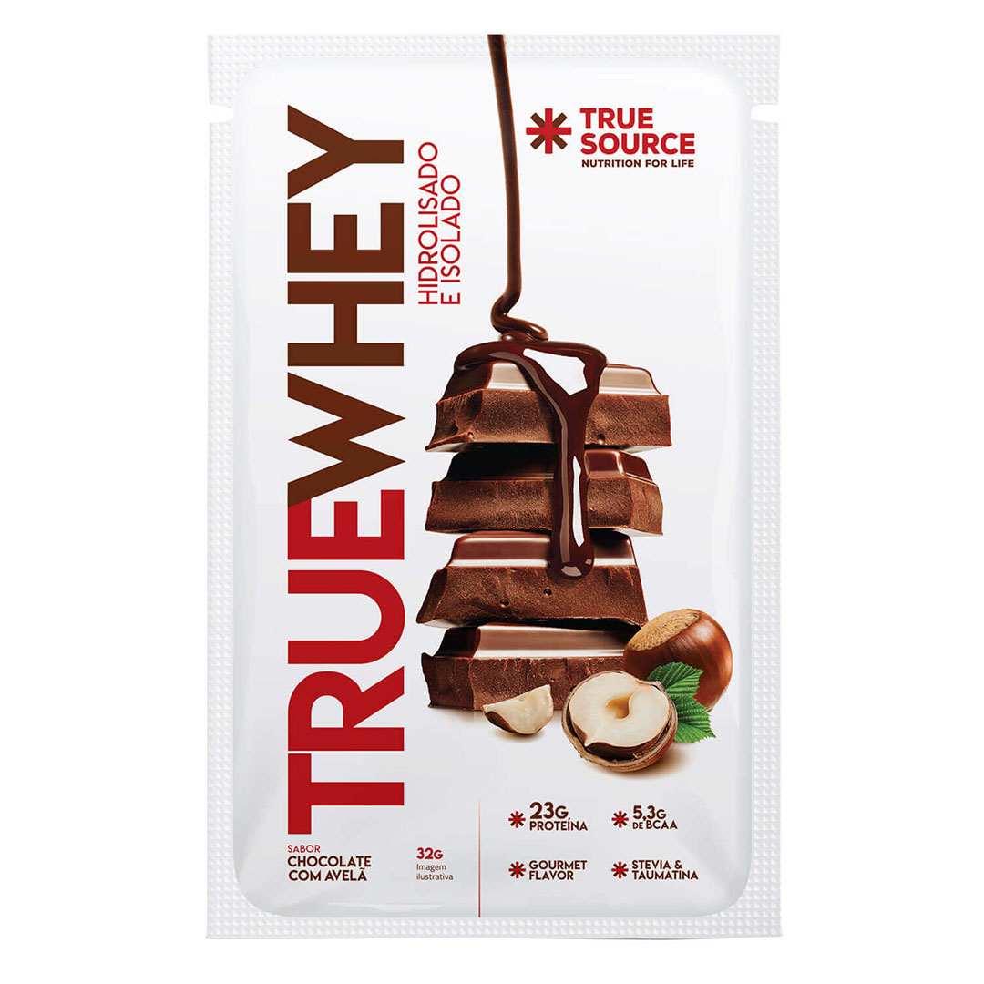 Sachê True Whey 32g Chocolate com Avelã  - KFit Nutrition