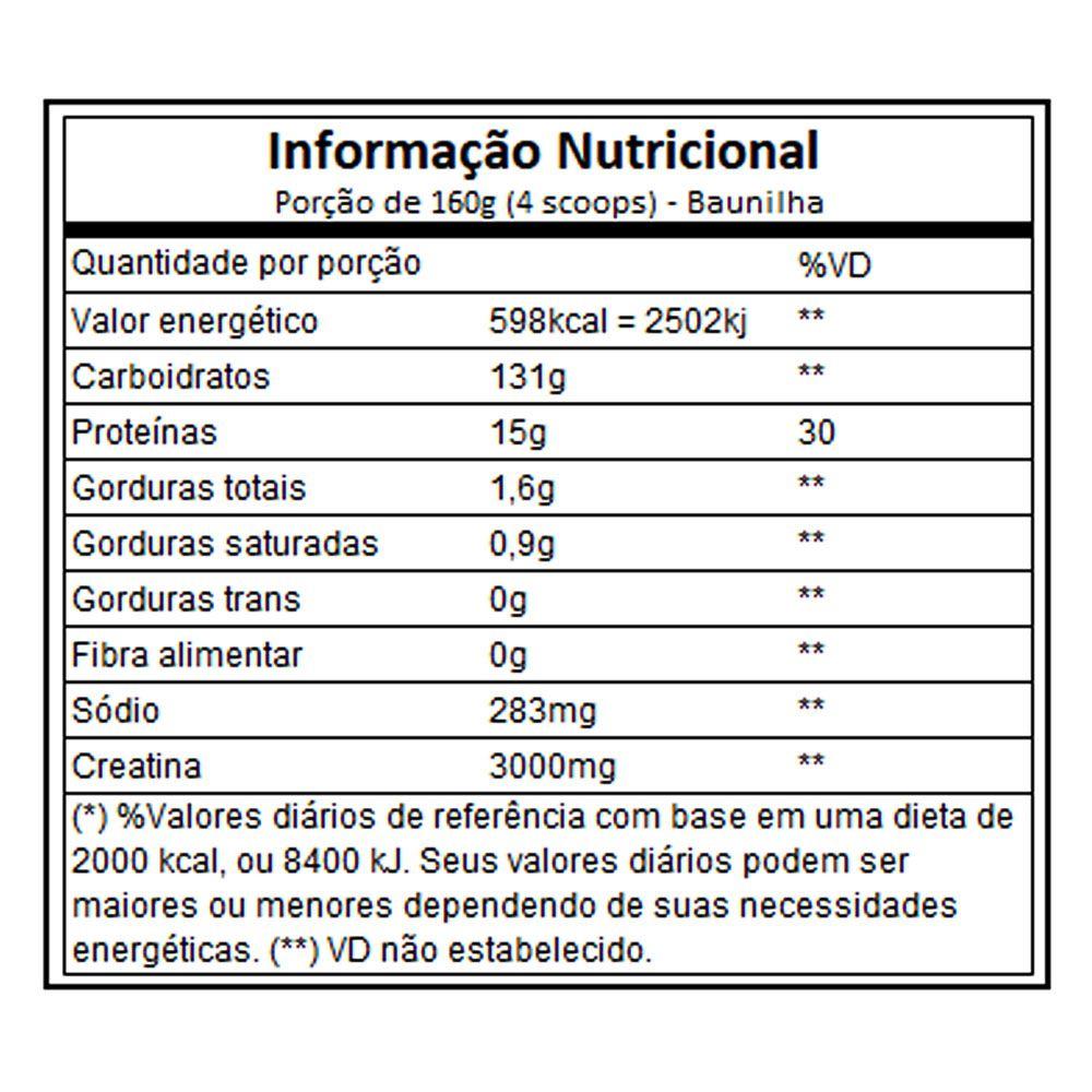 Sinister Mass 3Kg Baunilha - Integral Medica  - KFit Nutrition