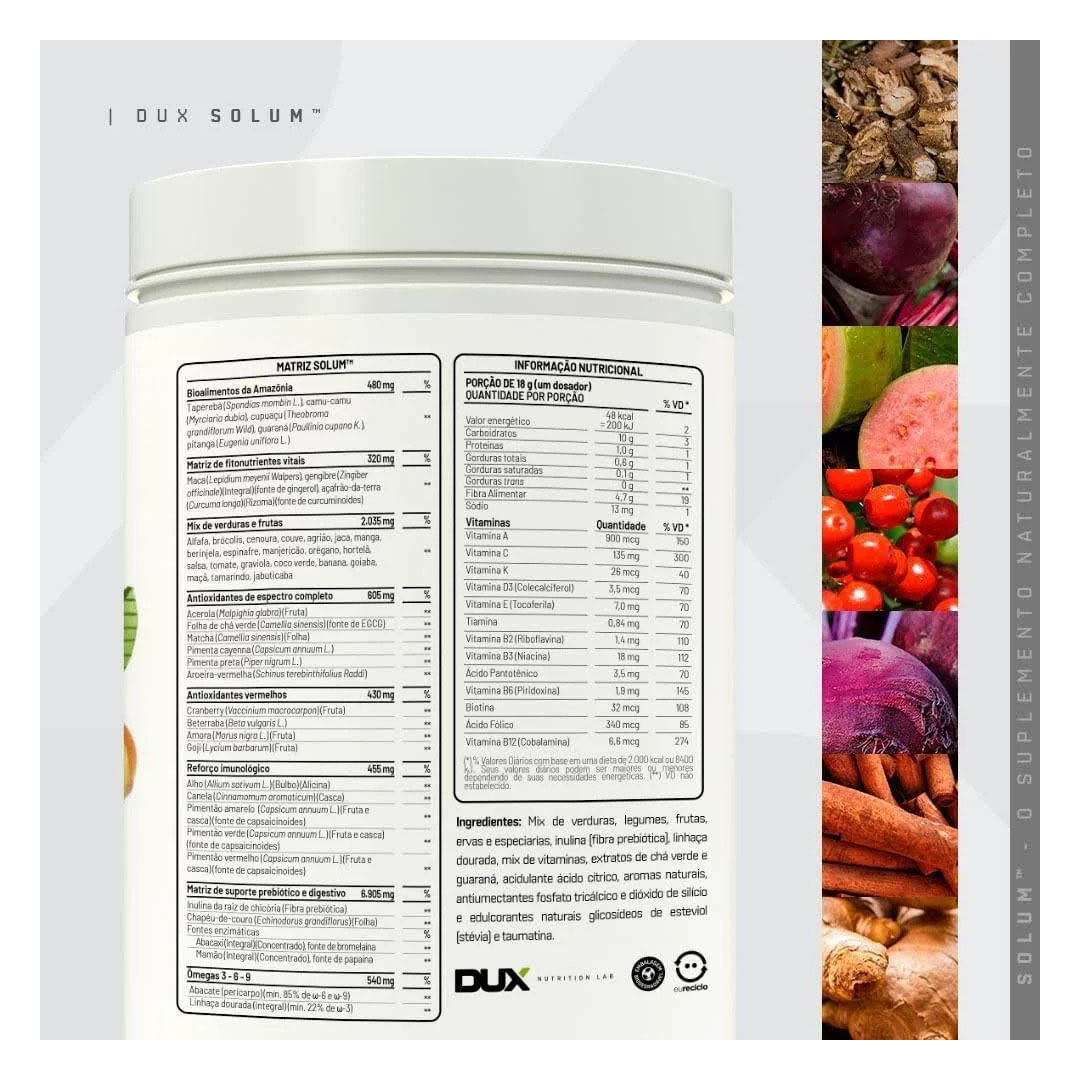 Solum Frutas Vermelhas 450g - Dux  - KFit Nutrition