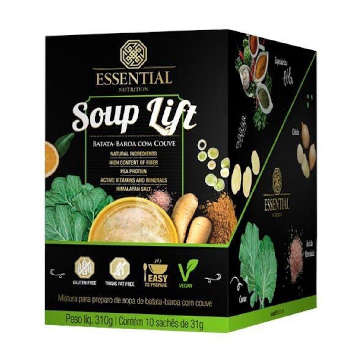 Soup Lift Caixa Com 10 Sachês de 31G Batata-Baroa Com Couve  - KFit Nutrition