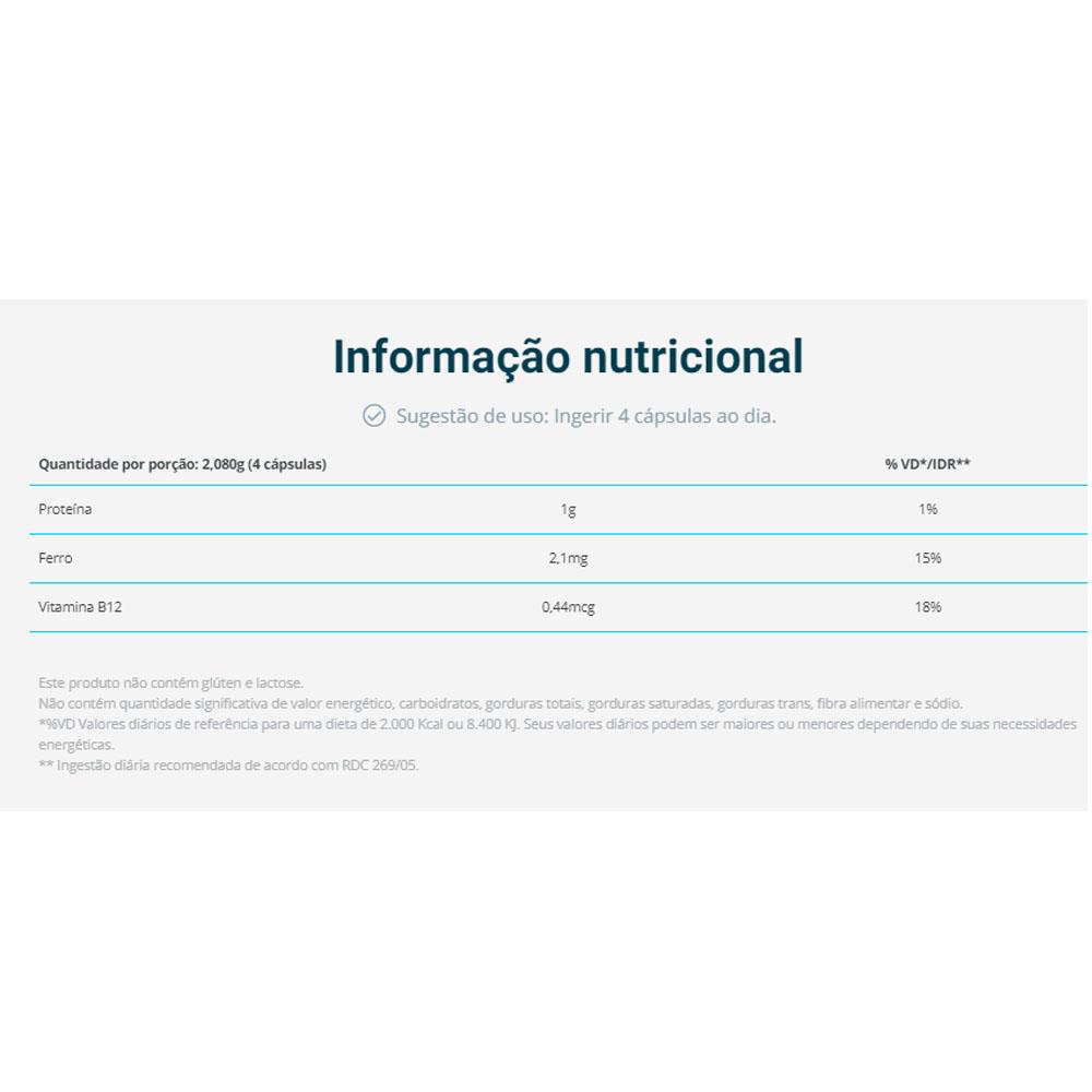 Spirulina 240 Caps - Vital Âtman  - KFit Nutrition