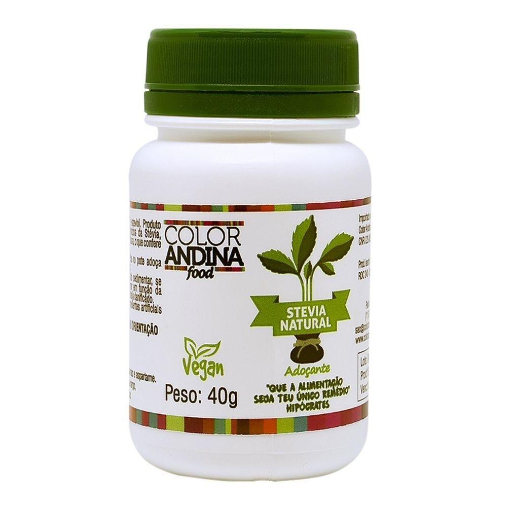 Stevia Natural 40g Color Andina  - KFit Nutrition
