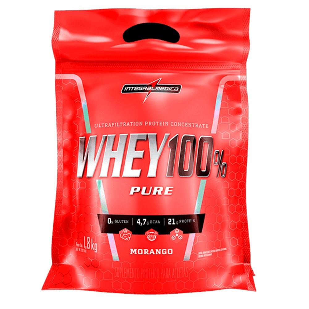 Super Whey 100% Morango 1,8Kg Integral Medica  - KFit Nutrition