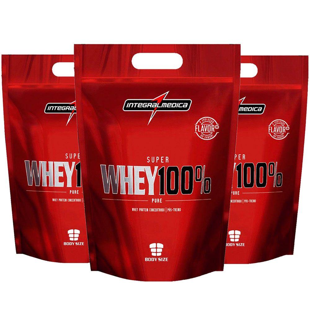 Super Whey 100% Pure Baunilha 3 unidades  - KFit Nutrition