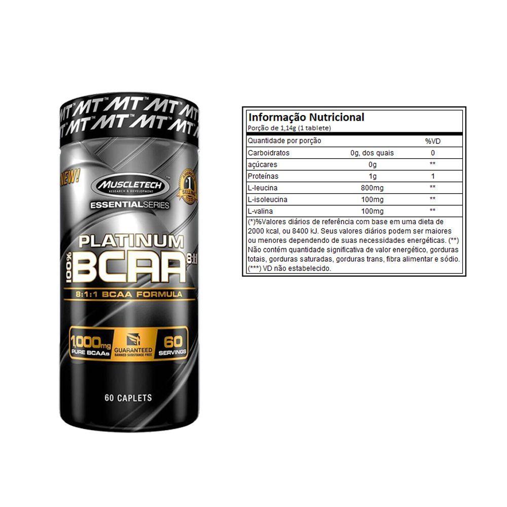 Super Whey 900g Baunilha + Bcaa Platinum 60 Caps  + Bottle  - KFit Nutrition
