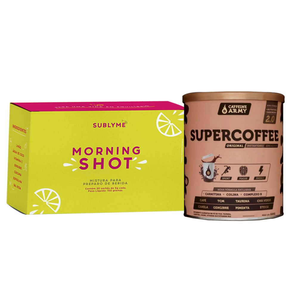 Supercoffee 220g 2.0 + Morning Shot 30 Sachês - Sublyme  - KFit Nutrition
