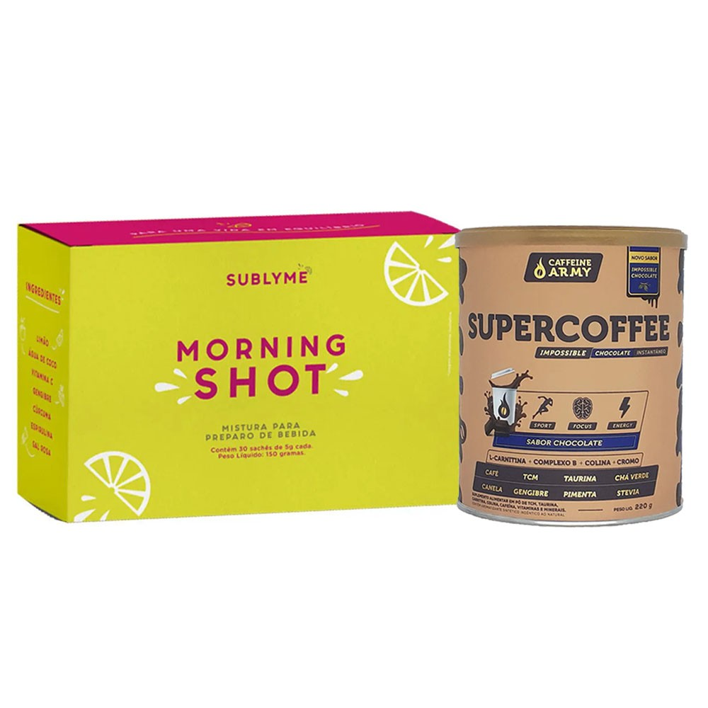 Supercoffee 220g Chocolate e Morning Shot 30 Sachês  - KFit Nutrition
