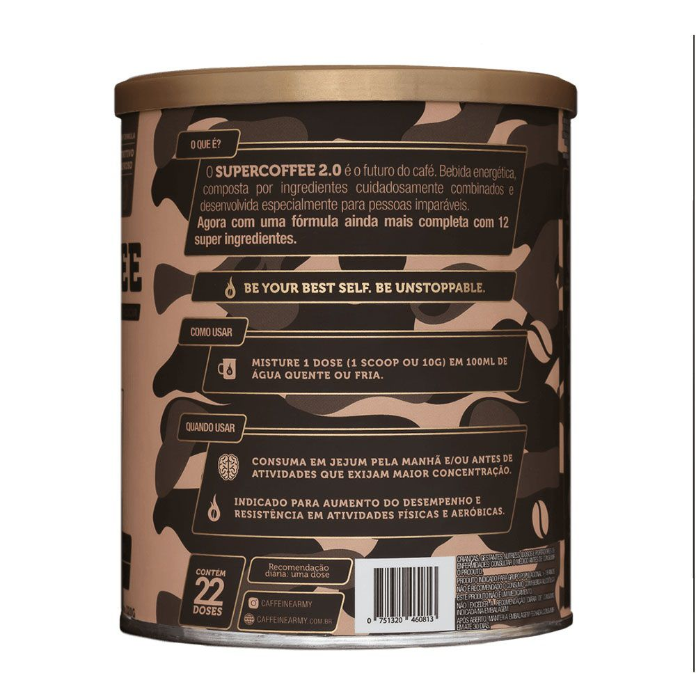 Supercoffee 2.0 220g - Caffeinearmy  - KFit Nutrition