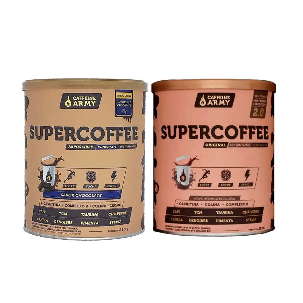 Supercoffee 2.0 220g e Supercoffee Chocolate 220g  - KFit Nutrition