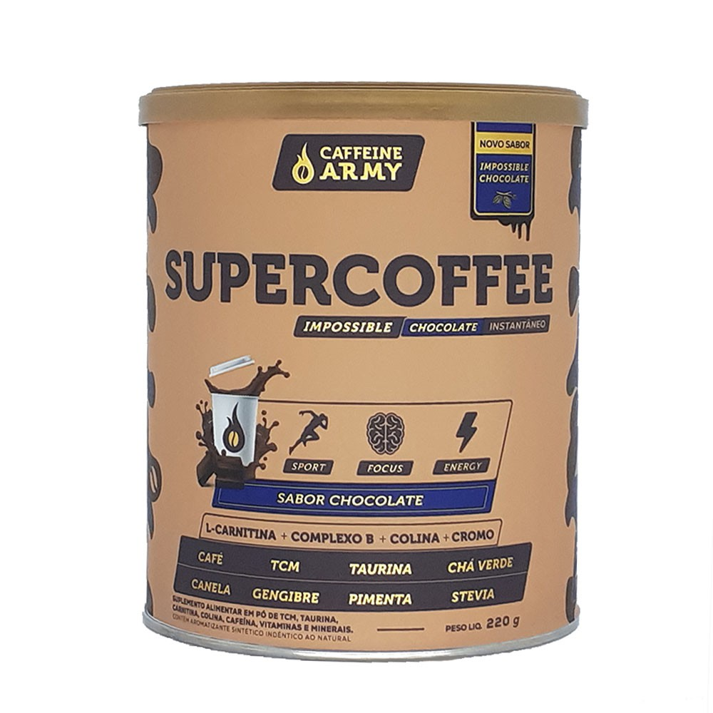 Supercoffee Chocolate 220g - Caffeinearmy  - KFit Nutrition