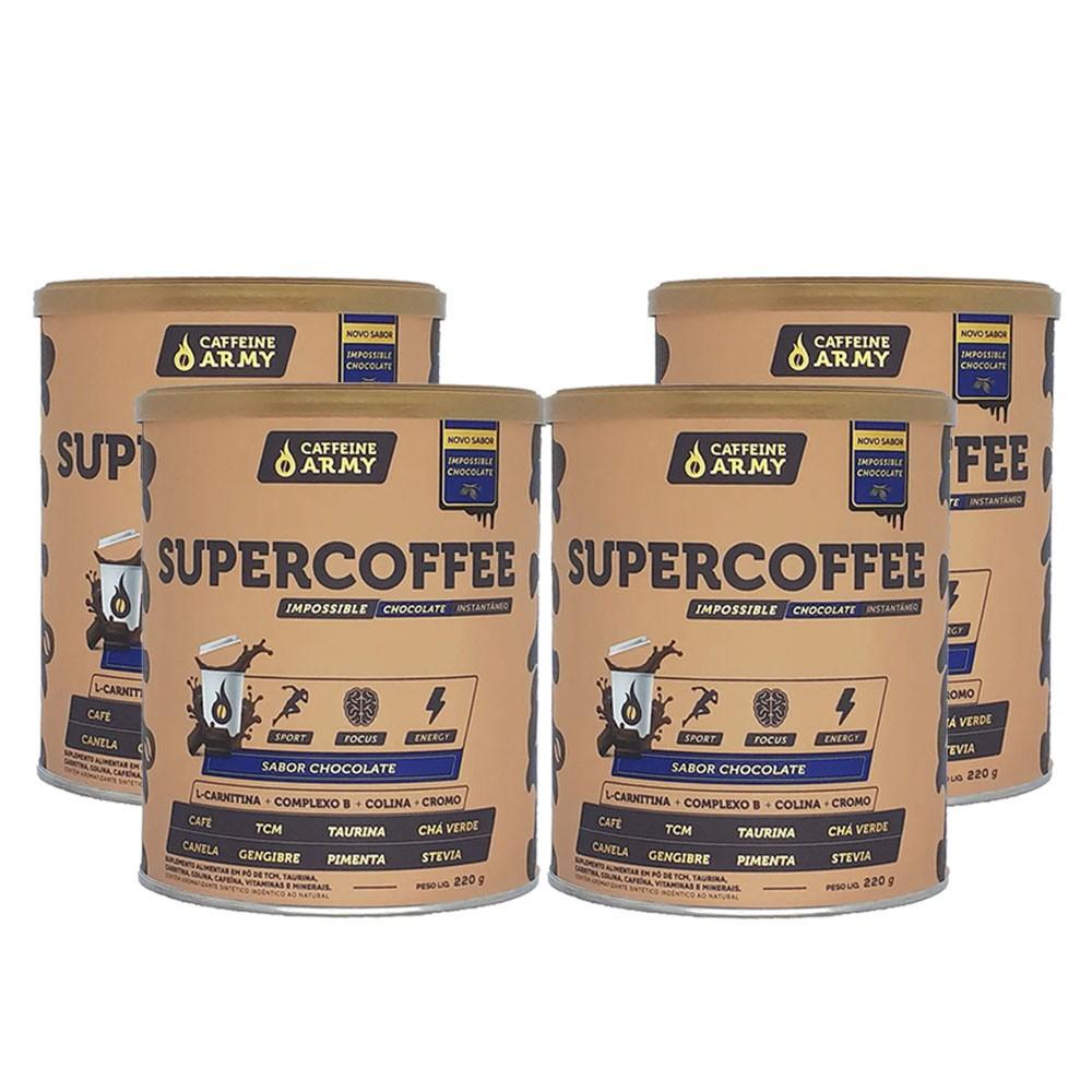 Supercoffee Chocolate 220g - Caffeinearmy 4 Un  - KFit Nutrition