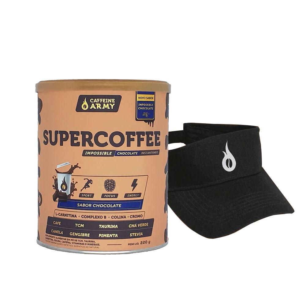 Supercoffee Chocolate 220g e Viseira Caffeinearmy  - KFit Nutrition