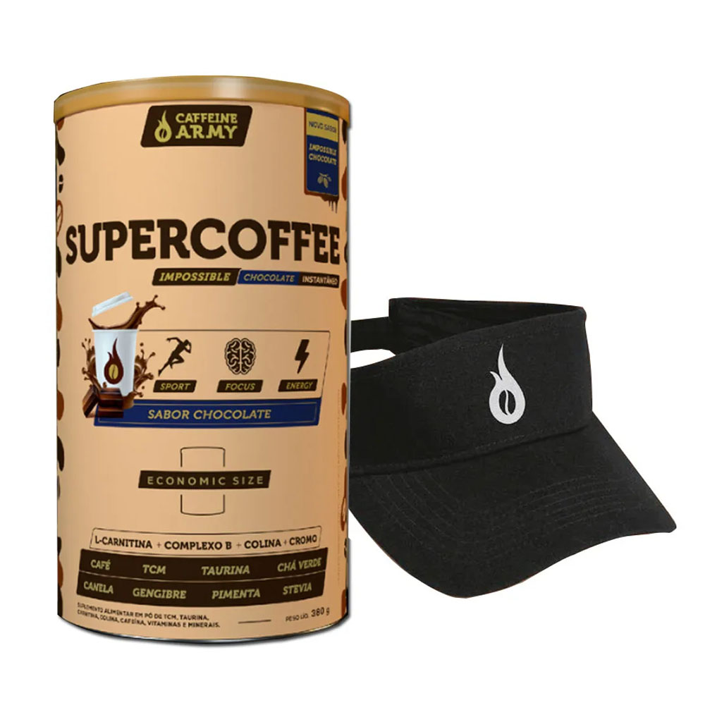 Supercoffee Chocolate Size 380g e Viseira  - KFit Nutrition