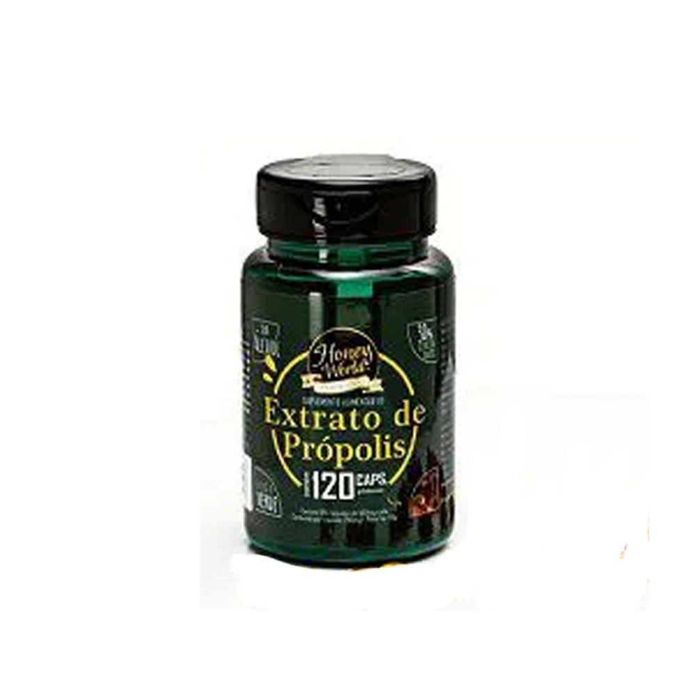Suplemento Alimentar de Extrato de Própolis 120 Cps Honey World  - KFit Nutrition