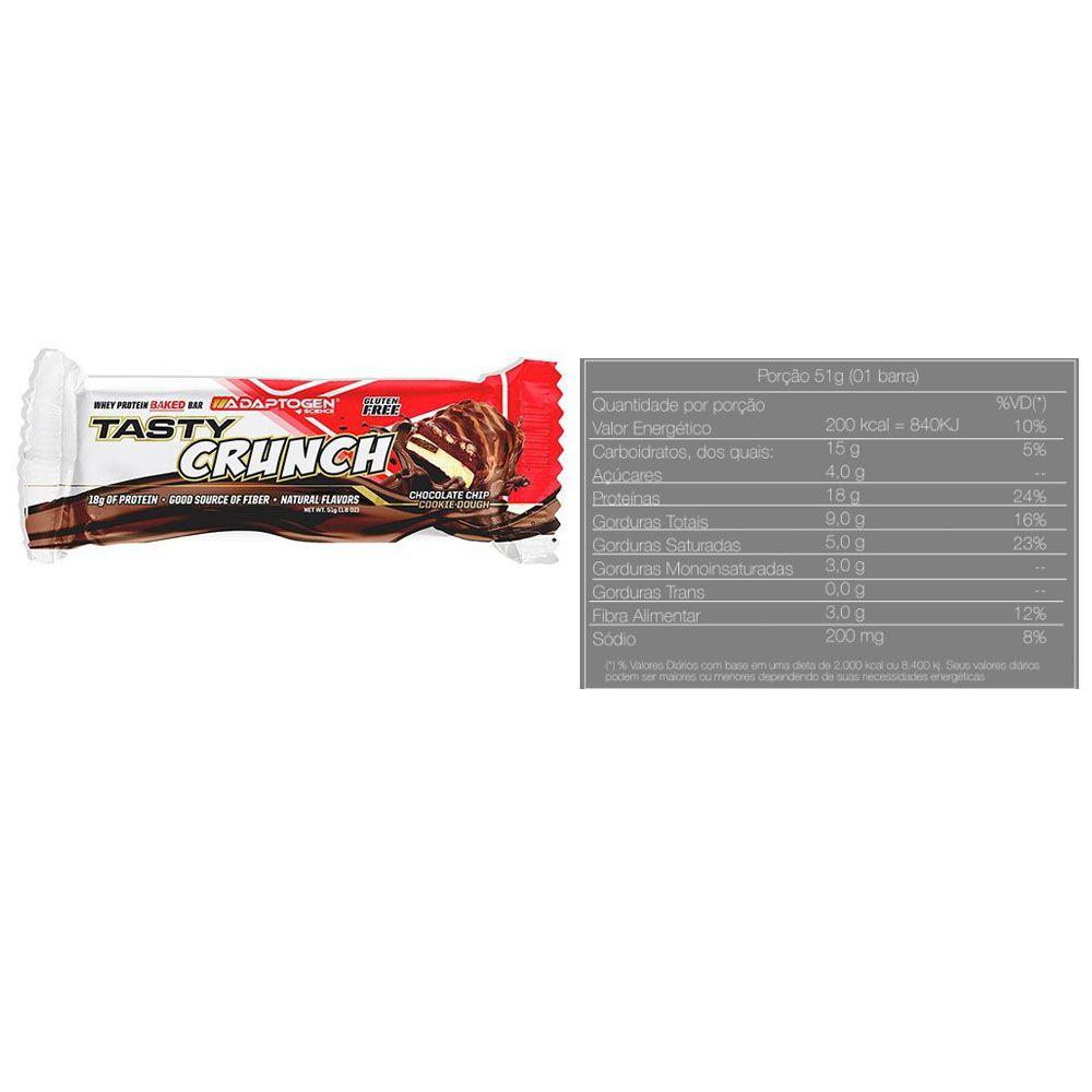 Tasty Bar Crunch 51G Chocolate Chip - Adaptogen  - KFit Nutrition