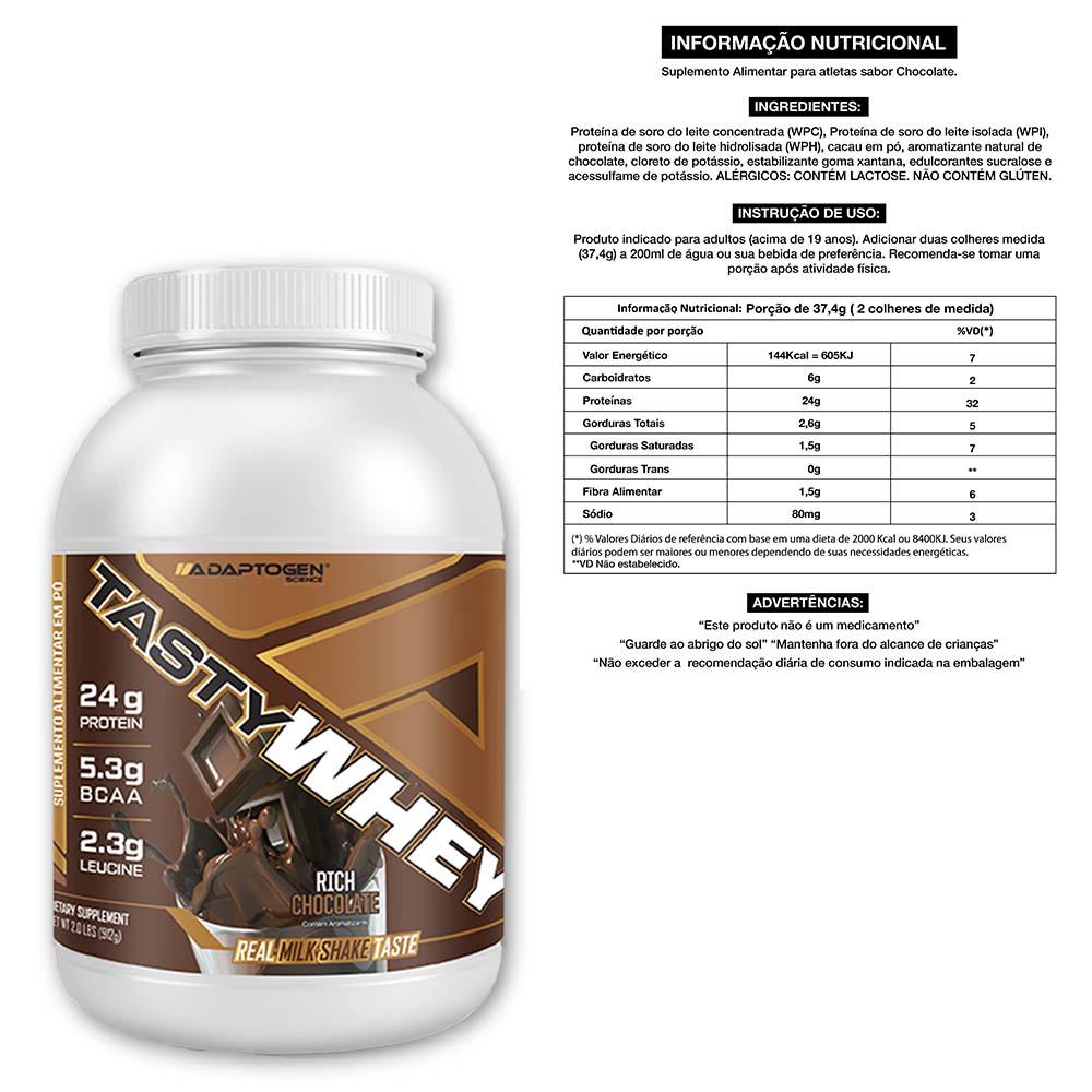 Tasty Chocolate 900g + Bcaa 90 Caps + Creatina 100g  - KFit Nutrition