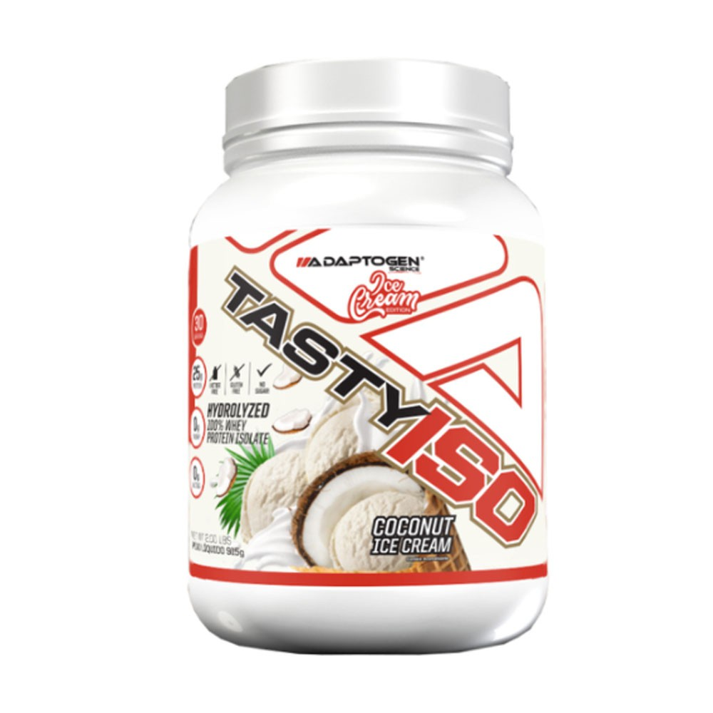 Tasty Iso 2 Lbs Coconut Ice Cream - Adaptogen  - KFit Nutrition