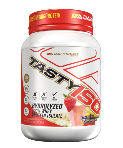 Tasty Iso Strawberry Banana  2 LBS - Adaptogen  - KFit Nutrition