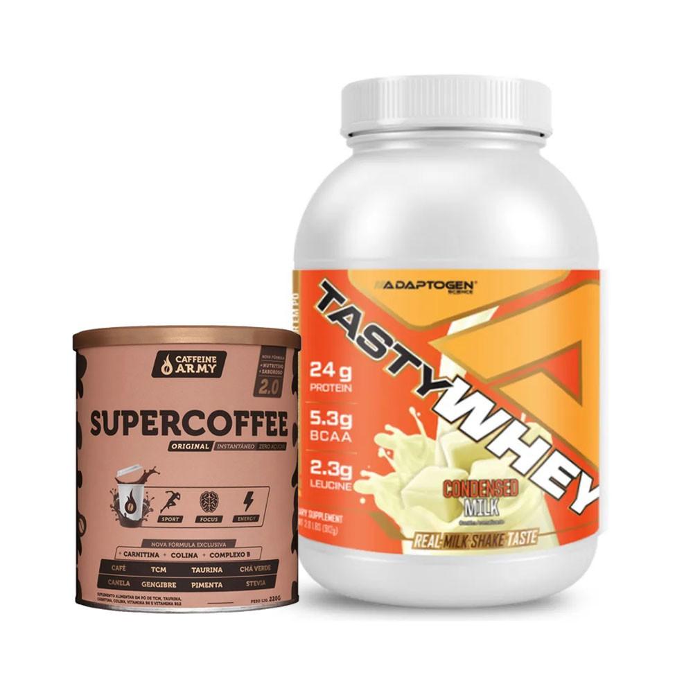Tasty Whey 2 Lbs Leite Condensado e Supercoffee 220g  - KFit Nutrition