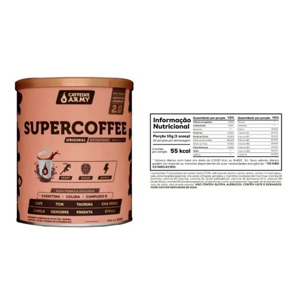 Tasty Whey 2 Lbs Morango e Supercoffee 220g  - KFit Nutrition