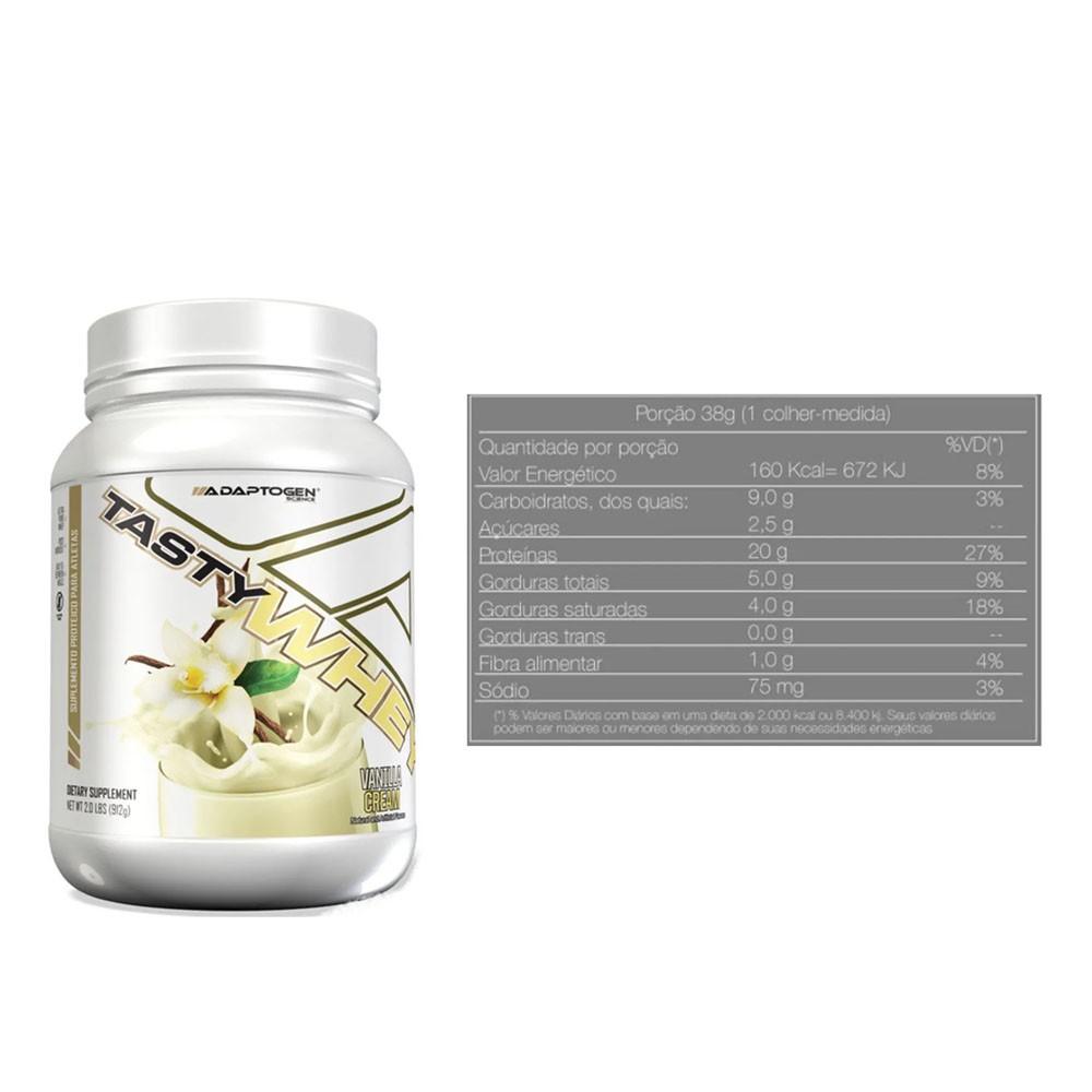 Tasty Whey 2 LBS Vanilla + Bcaa 90 Caps - Adaptogen  - KFit Nutrition