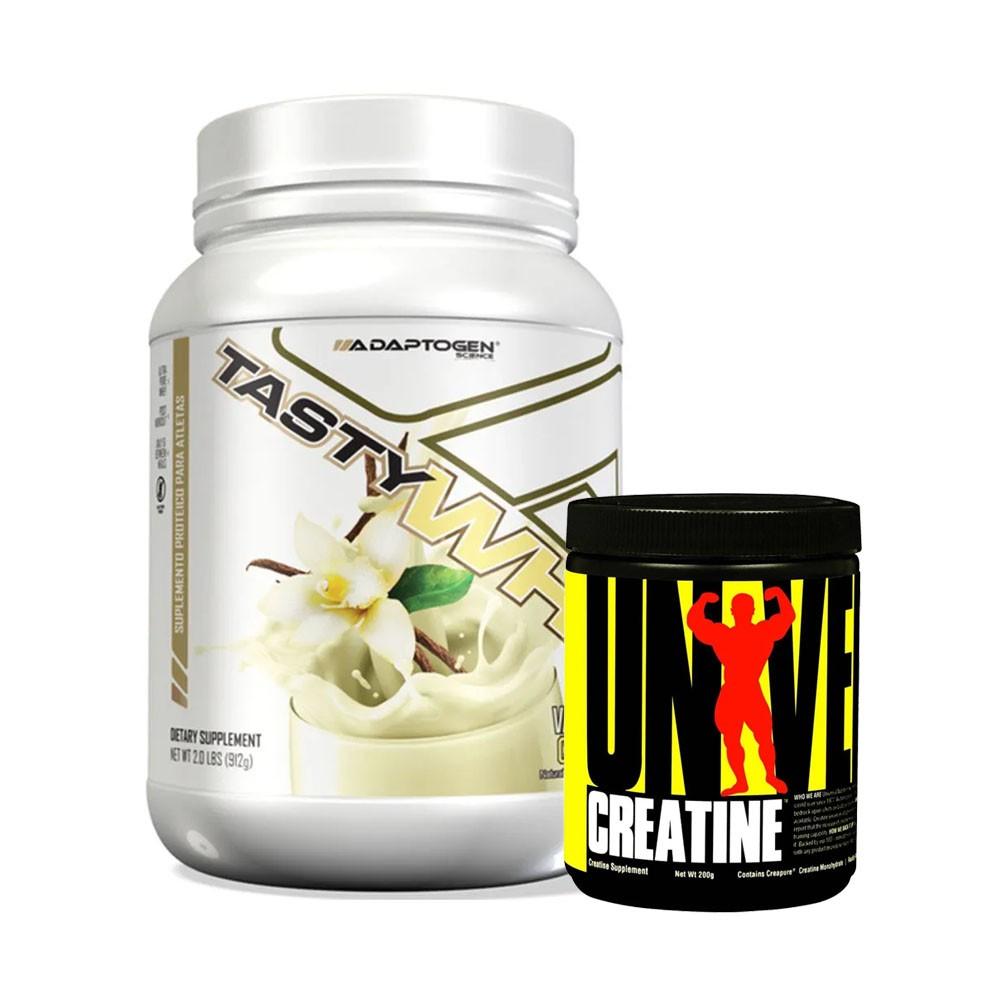 Tasty Whey Baunilha 2 LBS e Creatina 200g  - KFit Nutrition