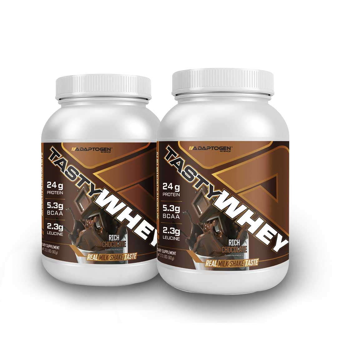 Tasty Whey Chocolate 2 LBS - Adaptogen 50% OFF na 2 Unidade   - KFit Nutrition