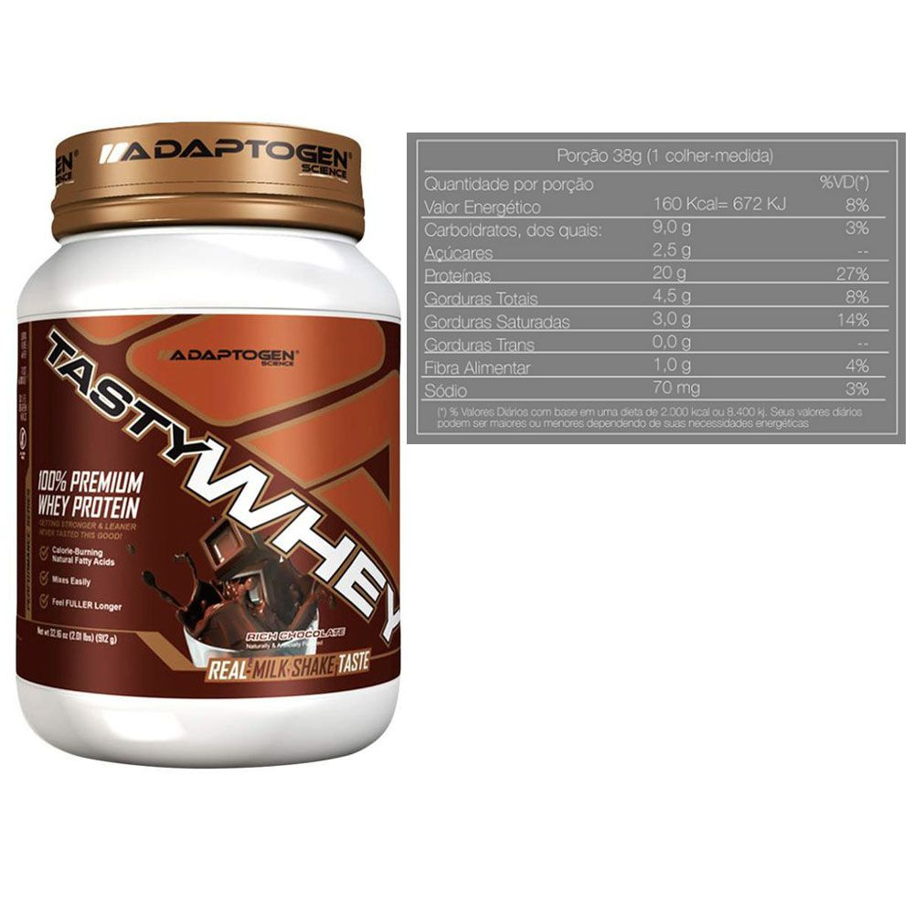 Tasty Whey Chocolate 2Lb +Tasty Bar Chocolate Chip 51g  - KFit Nutrition