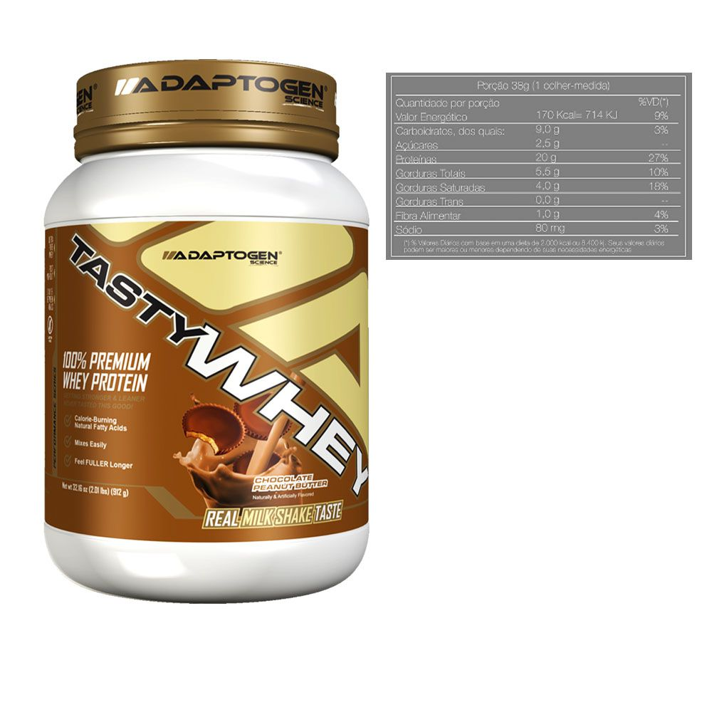 Tasty Whey Chocolate Peanut Butter 2Lb + Tasty Bar 51g  - KFit Nutrition