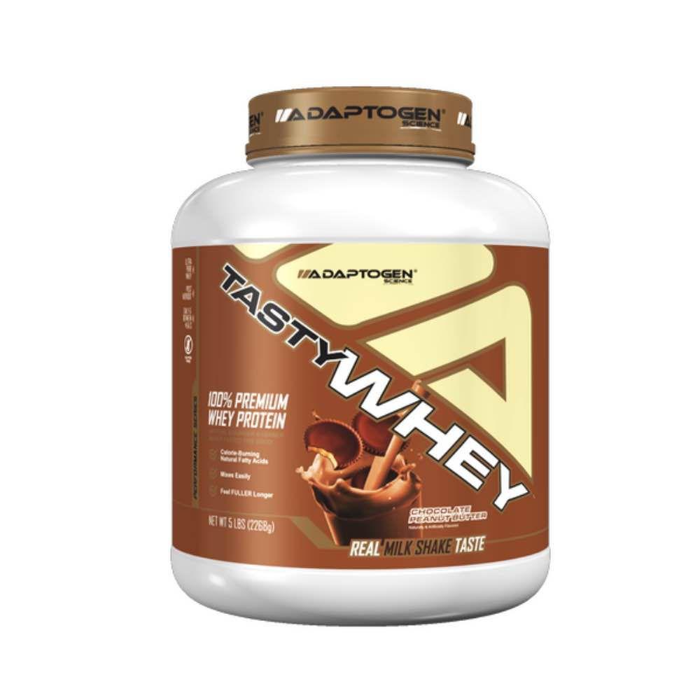 Tasty Whey Chocolate Peanut Butter 5 LBS - Adaptogen  - KFit Nutrition