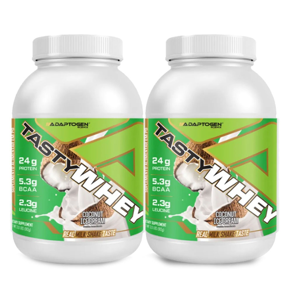 Tasty Whey Coco 2 LBS - Adaptogen - 50% OFF na 2 Unidade   - KFit Nutrition
