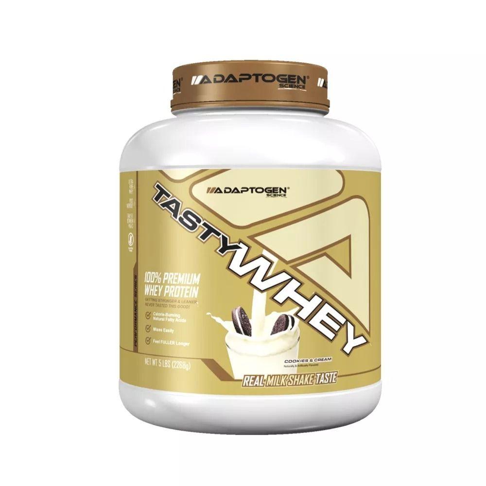 Tasty Whey Cookies n Cream 5 LBS - Adaptogen  - KFit Nutrition