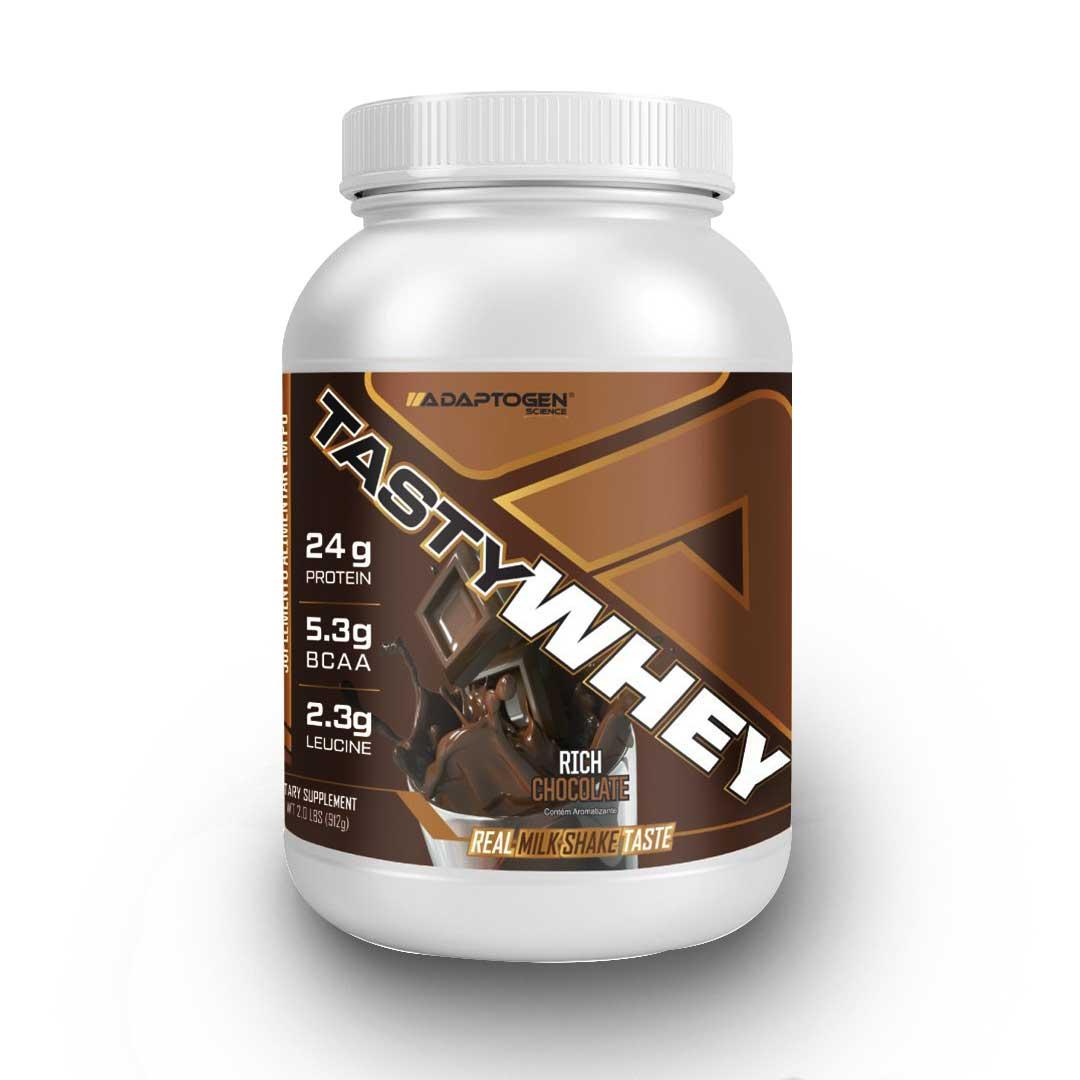 Tasty Whey Rich Chocolate 2 LBS - Adaptogen  - KFit Nutrition
