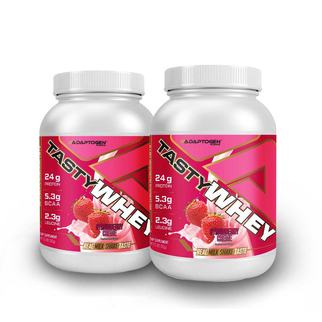 Tasty Whey Strawberry 2 LBS - 50% OFF na 2 Unidade   - KFit Nutrition