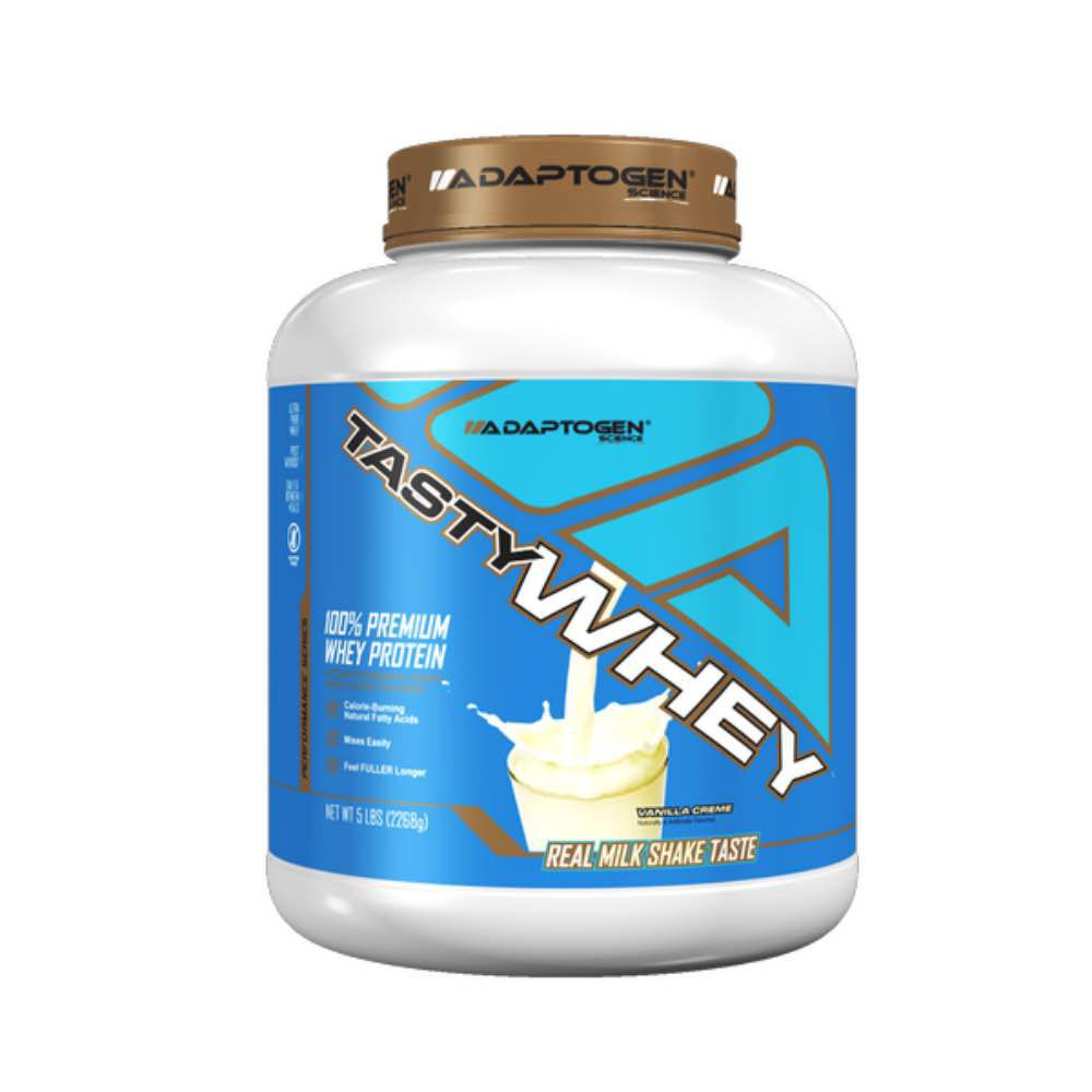 Tasty Whey Vanilla 5 LBS - Adaptogen  - KFit Nutrition