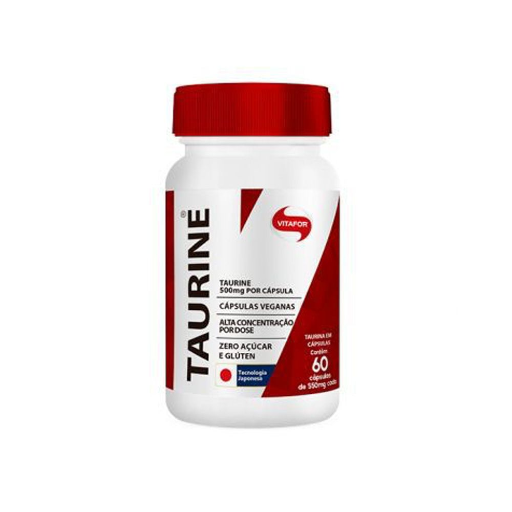 Taurine 60 Cápsulas Vitafor  - KFit Nutrition