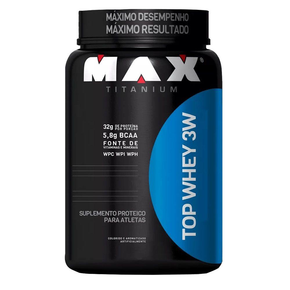 Top Whey 3W 900GR - Max Titanium  - KFit Nutrition