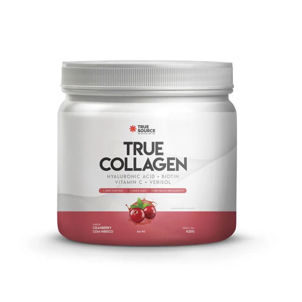 True Collagen 420g Cramberry Com Hibisco - True Source  - KFit Nutrition