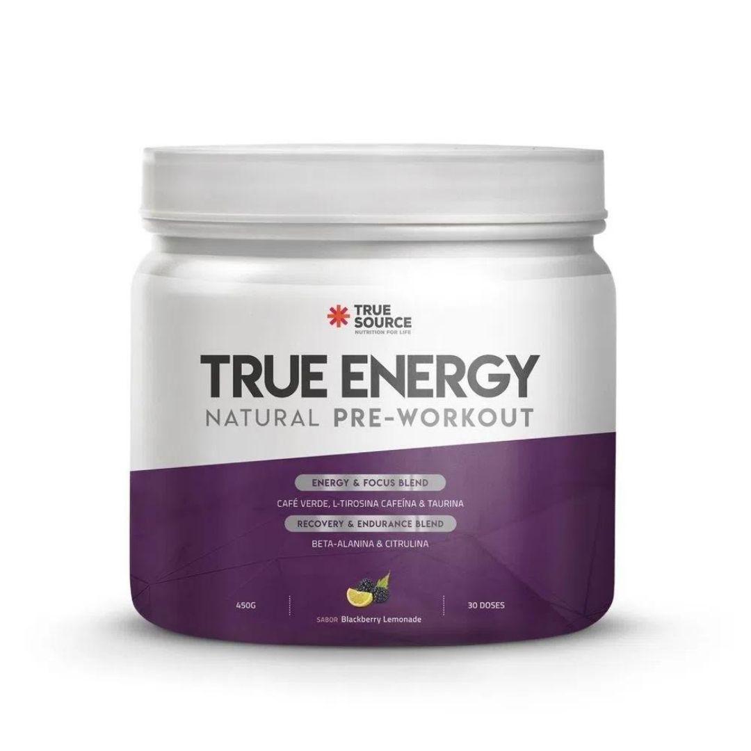 True Energy Pre Workout Blackberry Lemonade 450g True Source  - KFit Nutrition