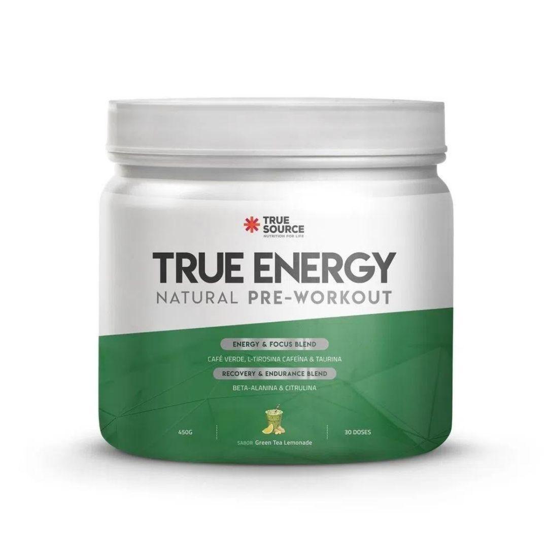 True Energy Pre Workout Green Tea Lemonade 450g  True Source  - KFit Nutrition