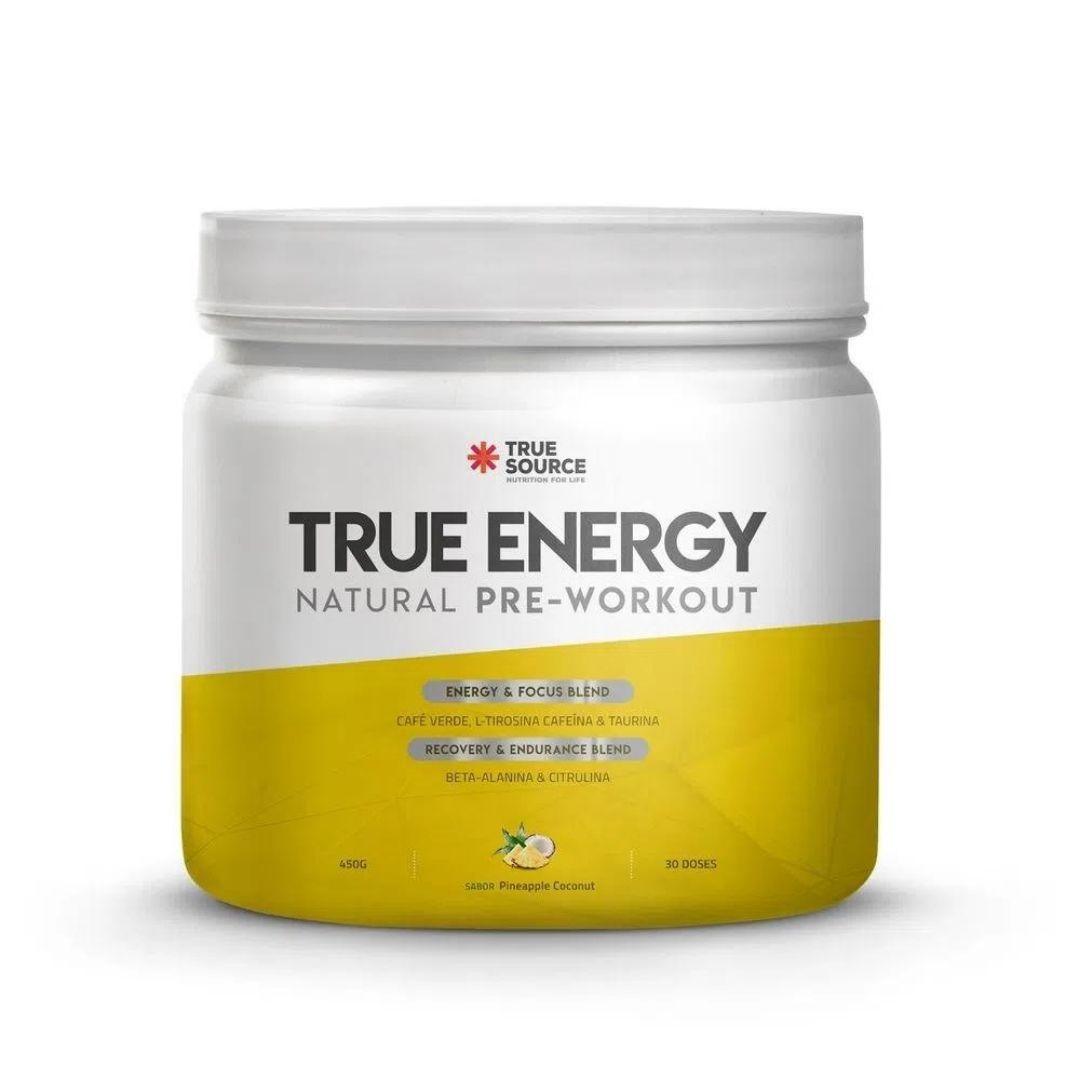 True Energy Pre Workout Pineapple Coconut 450g  True Source  - KFit Nutrition