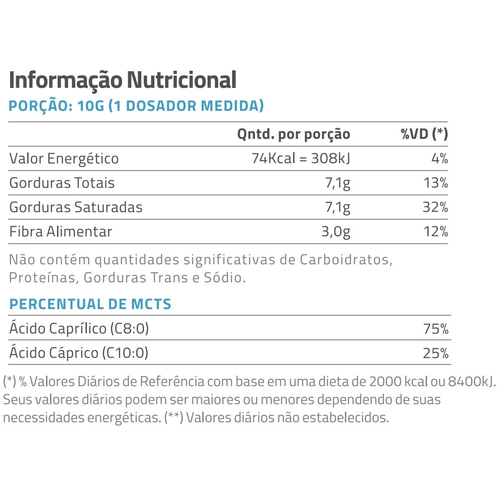 True Mct Oil Powder Unflavored 300G  - KFit Nutrition