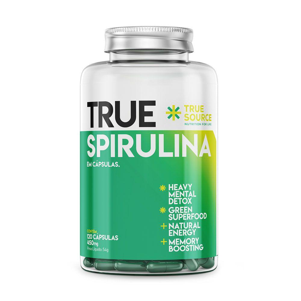 True Spirulina 450mg 120 Caps - True Source  - KFit Nutrition